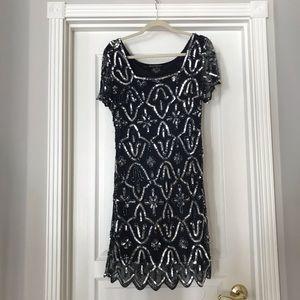Pissarro Nights Beaded Sequin Dress
